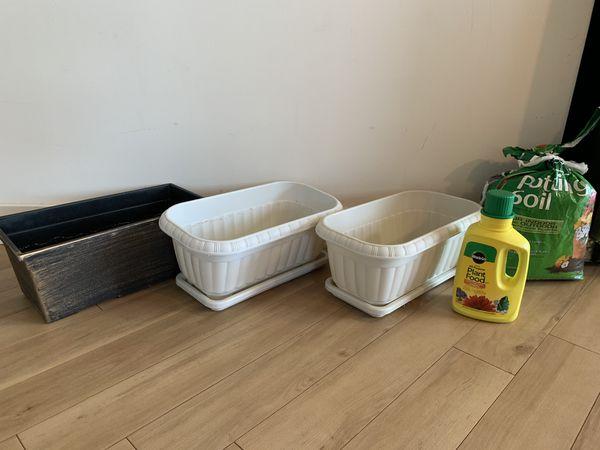 Indoor Window Planter Box and plant fertilizer