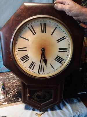 Antique wall clock, working condition 1873 for Sale in Sterling Heights, MI