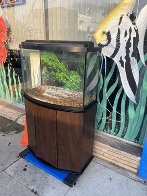 37g bow front aquarium for Sale in Lawndale, CA