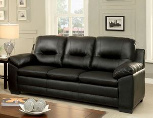 Black PU leather sofa couch for Sale in Downey, CA