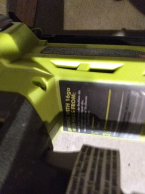 Ryobi nail gun 16 gage w /battery and charger use for Sale in Hesperia, CA