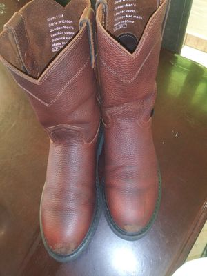Size 11 used work boots good condition for Sale in San Bernardino, CA