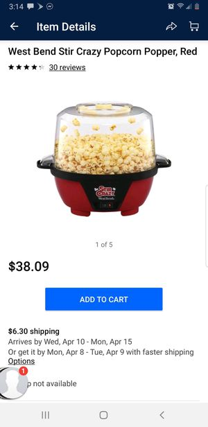 WestBend Popcorn POPPER for Sale in Reidsville, NC