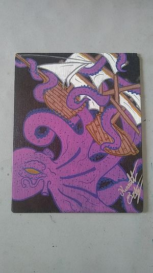 Octopus painting on wood for Sale in Los Angeles, CA