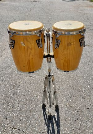 NATURAL CONGA DRUM SET with Stand for Sale in Washington, DC