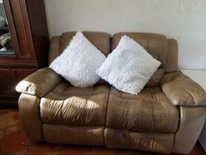 Reclining Leather Sofa - Move Out Sale for Sale in Pembroke Pines, FL
