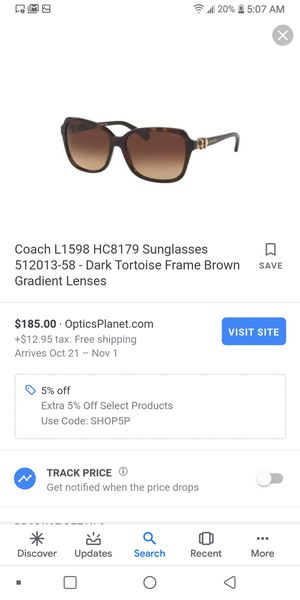 Womens coach sunglasses for Sale in Indianapolis, IN