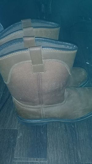 Size 14 mens steel toe boots for Sale in Bakersfield, CA