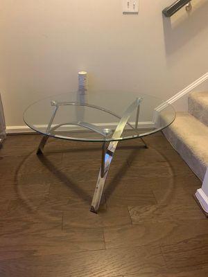 LIVING ROOM GLASS TABLE for Sale in Alexandria, VA