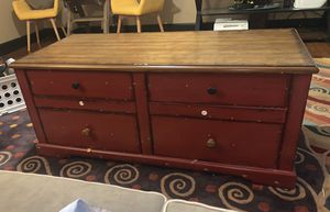 Coffee table, wooden, pull through drawers for Sale in Fort Worth, TX
