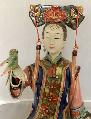 "Chinese Porcelain / Ceramic Lady Figurine - Freedom Bird 7.87""x 9.45"" x 5.51"" for Sale in Boynton Beach, FL"