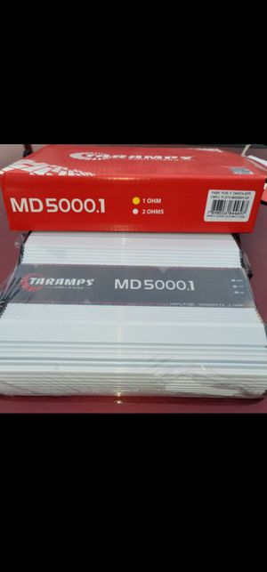 TARAMPS MD5000 1 OHM FOR SUBWOOFER OR VOICE SPEAKERS, CHUCHERO BOXES for Sale in The Bronx, NY