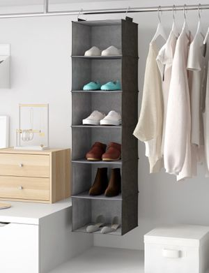 6-Compartment Grey Closet Hanging Organizer for Sale in Los Angeles, CA