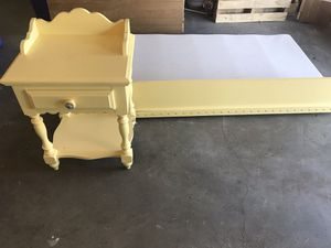 Kid's bed, side table plus twin mattress in good shape. for Sale in Evansville, IN