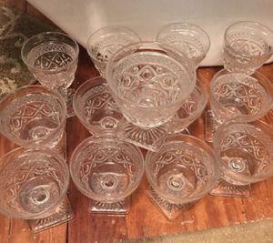 Beautiful antique cut glass dessert cups for Sale in Cincinnati, OH