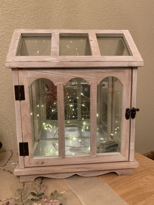 Glass greenhouse lantern candle holder for Sale in Garland, TX