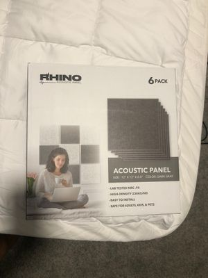 New 6-Pack Rhino Acoustic Panels for Sale in Colton, CA