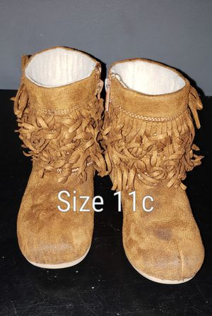 Brown boots size 11c kids for Sale in Renton, WA