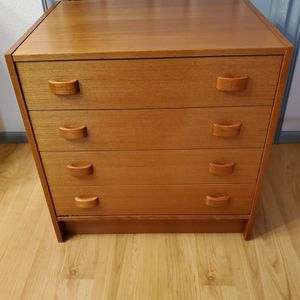 Mid Century Modern Teak Danish Cabinet Side Table/Nightstand By Domino Mobler for Sale in Kent, WA