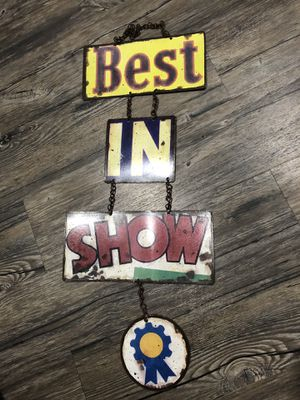 Vintage Styled Best In Show Metal Sign Tack Horse Decor Hanging for Sale in Spokane, WA