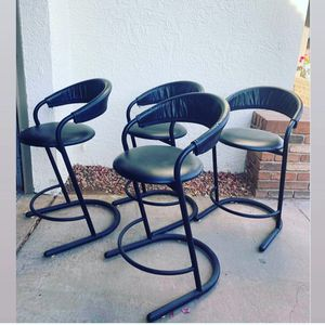 4 modern vintage leather kitchen counter height stools for Sale in Phoenix, AZ