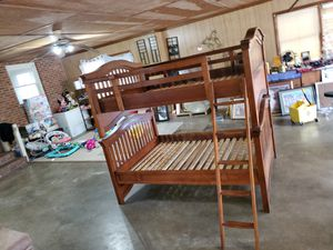 Full over full size bunk bed for Sale in Julian, NC