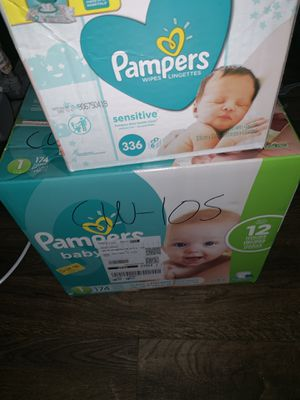 Pampers and wipes for Sale in Sun City, AZ