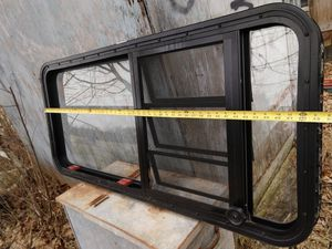 RV Camper Window with Emergency Exit Screen Screws