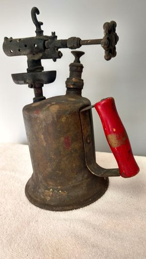 Antique Blow Torch Clayton & Lambert Steampunk Red Handle for Sale in Allendale, NJ