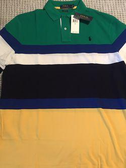 Ralph Lauren Multi Colored polo Size L for Sale in Dallas,  TX