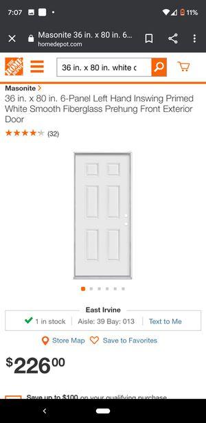 36 in. x 80 in. white door for Sale in Covina, CA