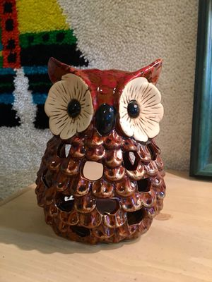 Vintage Owl Candle Holder Owl Decor Boho Chic Tea Light Holder for Sale in Los Angeles, CA