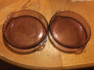 Pair of Pyrex Pie Dishes for Sale in Wood River, IL