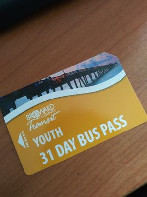 Bus pass 31 day's for Sale in Pompano Beach, FL