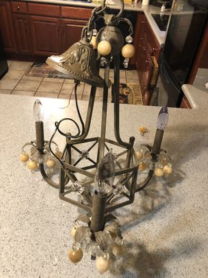 Beautiful vintage hanging chandelier light for Sale in Modesto, CA