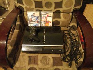 Original ps3 with 1 controller & 2 games for Sale in Lake Stevens, WA