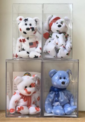FOUR Collectible Beanie Baby Teddy Bears for Sale in Olympia, WA