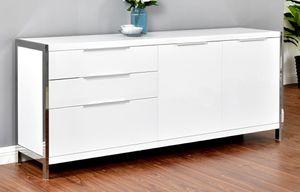 -White Accent Cabinet- 71L x 18 x 30H for Sale in Moreno Valley, CA