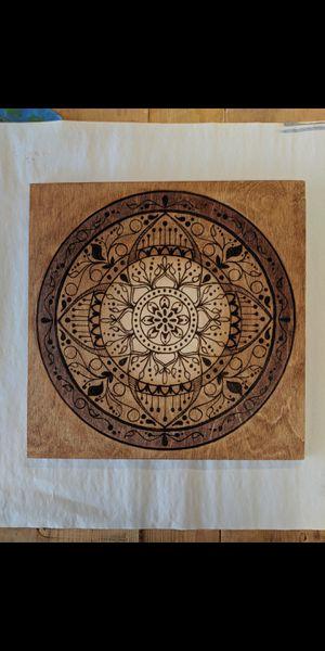 Wood Burn Mandala for Sale in Litchfield Park, AZ