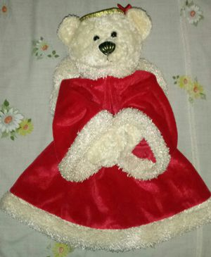 """Plush 15"""" Teddy Bear Angel Tree Topper Red Robe for Sale in Hannibal, MO"""