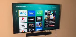 65 inch smart 4K tv with surround sound and wall mount for Sale in Atlanta, GA