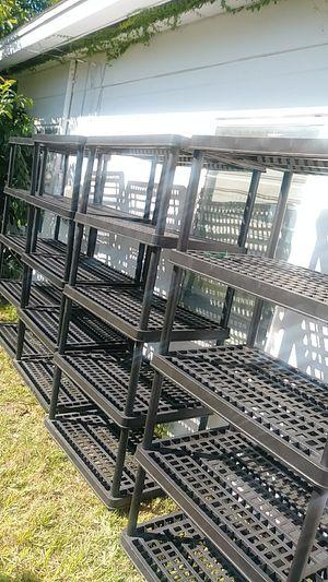 Black plastic shelves for Sale in Auburndale, FL