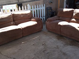 Brown Suade Living Room Electric Recliner Set for Sale in Chula Vista,  CA