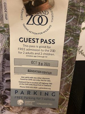 Oakland Zoo Tickets. 2 adults, 2 children and FREE parking for Sale in Martinez, CA