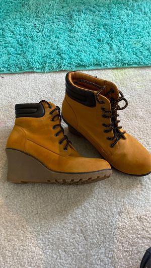 high heel construction looking boot for Sale in Manassas, VA