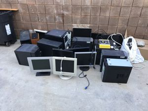Monitors, computers, speakers $10 each for Sale in Santa Monica, CA