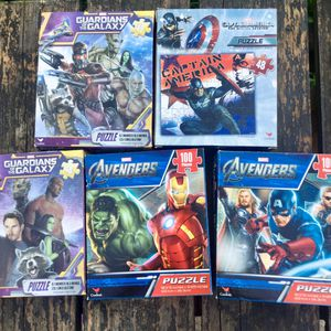 Kids mini puzzles Marvel superheroes for Sale in Hedgesville, WV