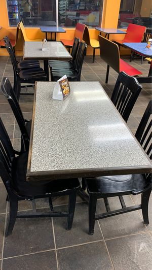 Restaurant table with 4 chairs , 4 sets for Sale in Norman, OK