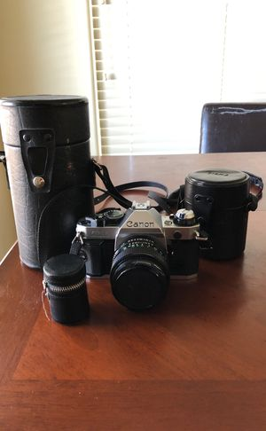 AMAZING condition Canon AE-1 Program w/ 3 lenses for Sale in Flagstaff, AZ