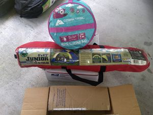 Junior dome tent and sleeping bag for Sale in Apopka, FL